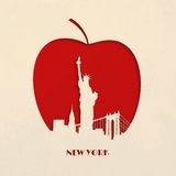 Cut-out silhouette of Big Apple New York Royalty Free Stock Photography