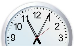 Cut out of simple modern analog wall clock Stock Image