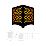 Cut out template for lamp Royalty Free Stock Image