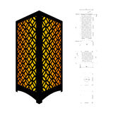 Cut out template for lamp Royalty Free Stock Photo