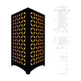 Cut out template for lamp Royalty Free Stock Photography