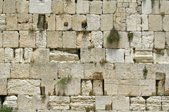 Cut out of the wailing wall Stock Photography