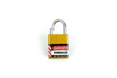 Cut padlock Stock Photography
