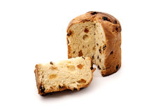 Cut panettone Royalty Free Stock Photos