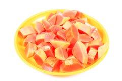 Cut papaya Royalty Free Stock Photos