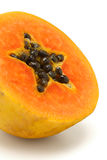 Cut papaya fruit Royalty Free Stock Photos
