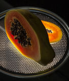 Cut papaya Stock Photo