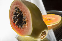 Cut papaya Royalty Free Stock Photography