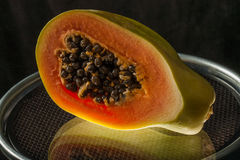 Cut papaya Royalty Free Stock Photos