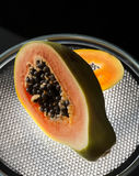 Cut papaya Stock Image
