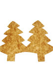 Cut Paper christmas trees Royalty Free Stock Photography