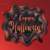 Cut paper Halloween Stock Image