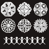 Cut from paper old snowflakes Stock Image