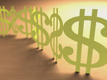 Cut Paper Sign Money Stock Image