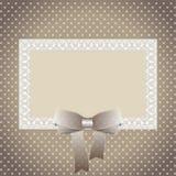 polka dot patterned invitations Royalty Free Stock Image
