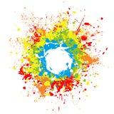 Paint splashes Stock Image