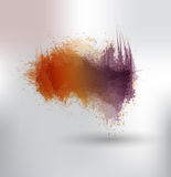 Ink splashes Stock Image