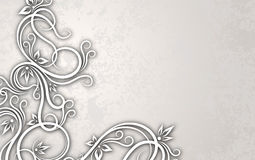 Cut of paper style decor on a aged background. Cut of paper style decor Royalty Free Stock Photo