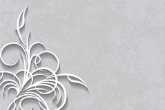 Cut of paper style decor on a aged background. Cut of paper style decor on a aged background Stock Photo