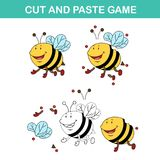 Cut and past game,easy educational paper games for kids. Illustration,vector Stock Images