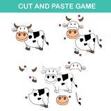 Cut and past game,easy educational paper games for kids Royalty Free Stock Image