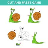 Cut and past game,easy educational paper games for kids Stock Images