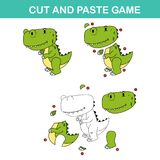 Cut and past game,easy educational paper games for kids Royalty Free Stock Photo