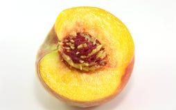 Cut peach Stock Photos