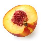Cut peach macro photo Royalty Free Stock Images
