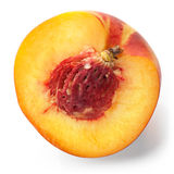 Cut peach macro photo Royalty Free Stock Photos