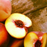 Cut peaches Royalty Free Stock Images