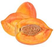 Cut peaches Stock Photos