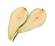 Cut pear Stock Photos