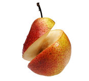 The cut pear Stock Image