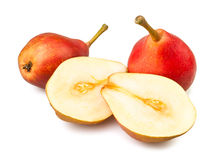 Cut pears Royalty Free Stock Image