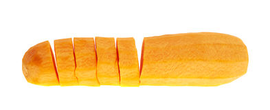 Cut peeled carrot isolated Royalty Free Stock Photos
