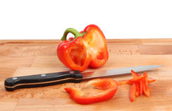Cut pepper Stock Photography