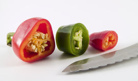 Cut Pepper5 Stock Photo