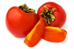 Cut persimmon Stock Photo
