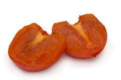 Cut persimmon Royalty Free Stock Image