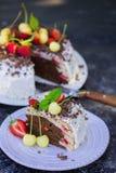 A cut piece of cake Stock Image
