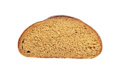 Cut piece of dark bread Royalty Free Stock Images