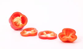 Cut pieces of Capsicum Royalty Free Stock Image