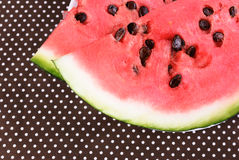 Cut into pieces of ripe red watermelon Royalty Free Stock Image