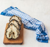 Cut pieces of smoked sturgeon Royalty Free Stock Image