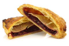 cut pieces of traditional filled dutch pastry Royalty Free Stock Images