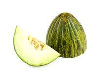 Cut piel de sapo melon isolated Royalty Free Stock Photo