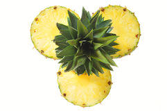 Cut Pineapple Stock Images