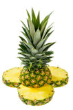 Cut Pineapple Royalty Free Stock Images