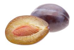Cut plum Stock Photography